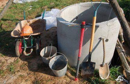 Инструменты для очистки шахты