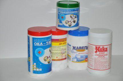 Хлосодержащие средства бытовой химии