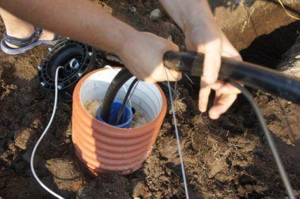 Применение насоса для промывки скважины
