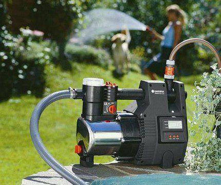 Irrigation of pond water