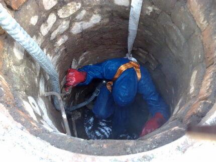 Ремонт шахты кирпичного колодца