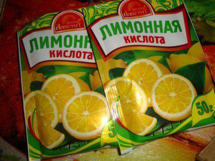 Лимонная кислота для удаления известковых отложений
