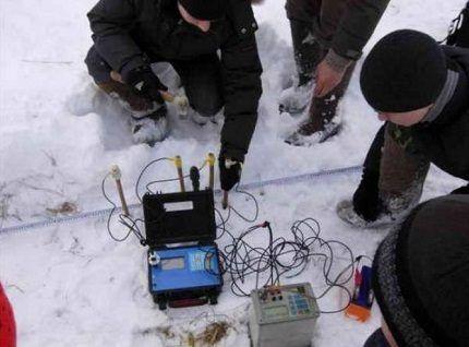 Аппаратура для поиска воды