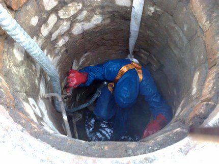 Безопасность работ в колодце