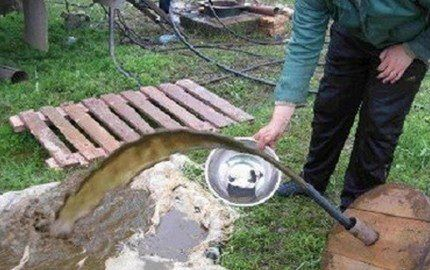 Прокачка заиленной скважины