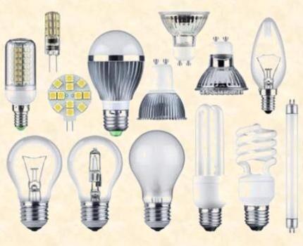 Лампы для освещения домашнего интерьера