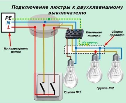Раздельно-групповое подключение ламп и светильников