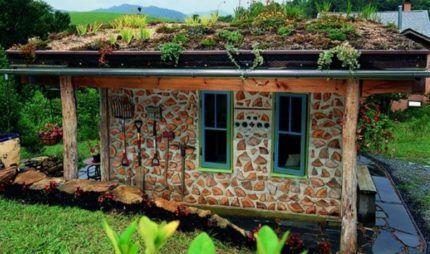 Дом по технологии cordwood
