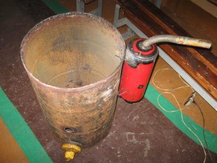 Камера сгорания и фильтр очистки