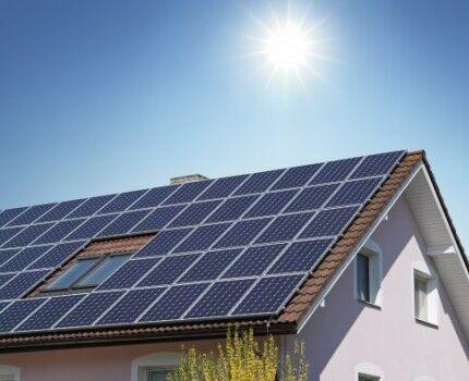 Пример установки панелей - уловителей энергии солнца