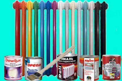 Чем лучше красить батареи отопления