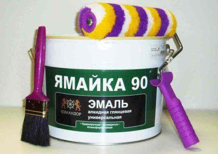 Как покрасить радиатор алкидной эмалью