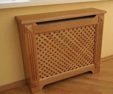 Как закрыть радиатор отопления деревянным экраном