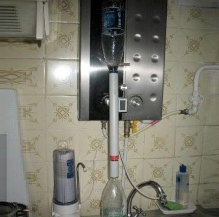 Самодельный фильтр для очистки воды на кухне