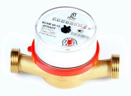 Счетчик для измерения объема воды многоструйный