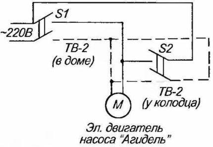 """Схема установки насоса """"Агидель"""""""