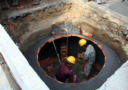 Строительство подземной установки