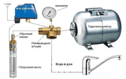 Схема подключения реле давления