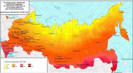 Схема солнечной активности РФ