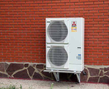 Как выглядит тепловой насос воздух-воздух