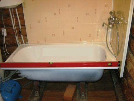Качество установки ванны