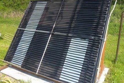 Солнечное отопление частного дома открытыми коллекторами