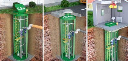 Монтаж канализационной станции
