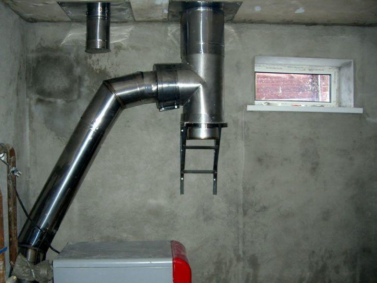 тройник для дымохода газового котла