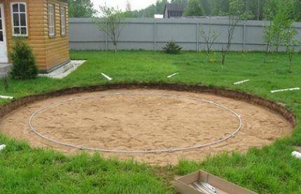 Площадка для установки джакузи