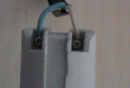 Подключение лампочки