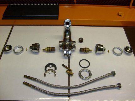 материалы для установки врезного смесителя