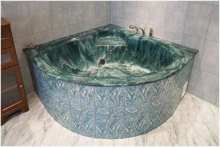 Artificial stone bath