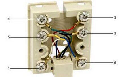 Подведение цветных проводов к разным контактам