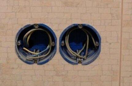 Укладка питающего кабеля