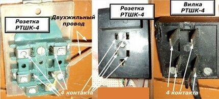 Подключение телефонного аппарата для создания стационарного соединения осуществляется через розетку, идущей в комплекте с вилкой