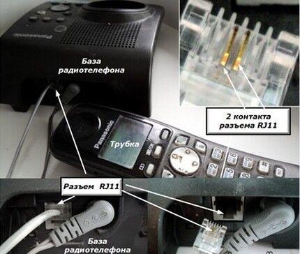 Прибор с разъемом RJ-11