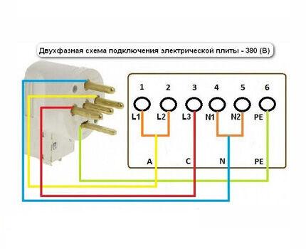 Двухфазная схема подключения