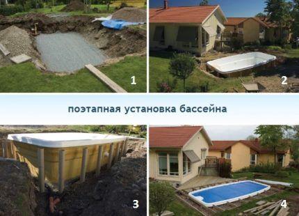 Как устроить бассейн на даче своими руками