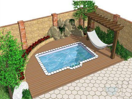 Классическое сооружение для купания