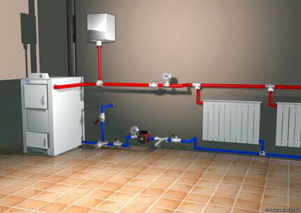 Двухтрубная система отопления частного дома