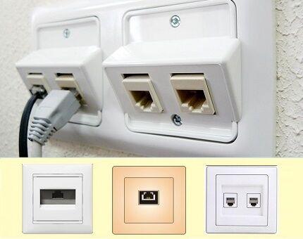 Как выбрать и подключить интернет розетку