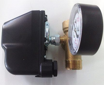 Relay and pressure gauge
