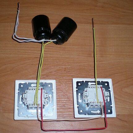 Схема подключения блока выключателя с розеткой