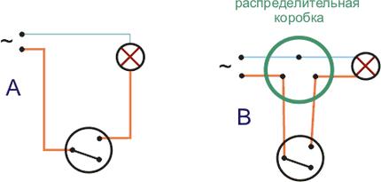 Схема электрического выключателя