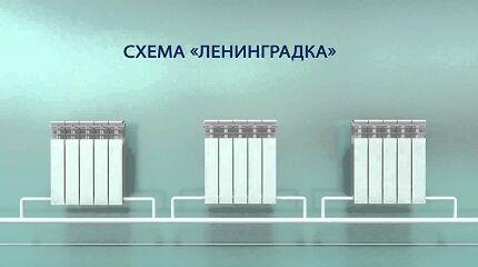 Схема ленинградки - однотрубной системы отопления