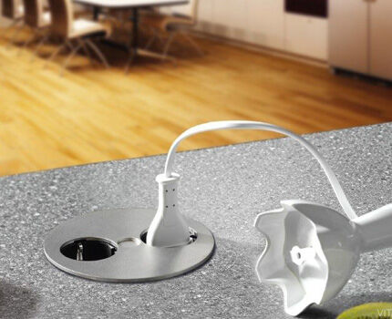 Twist receptacle on countertop
