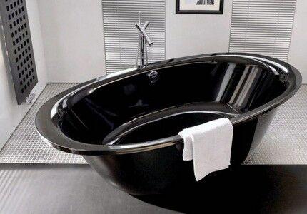 Чаша черного цвета в интерьере