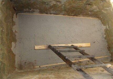 Бетонирование дна ямы