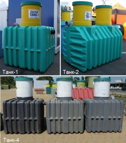 Modifications of septic tanks Tank