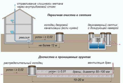 Функция анаэробных и аэробных живых бактерий для выгребных ям